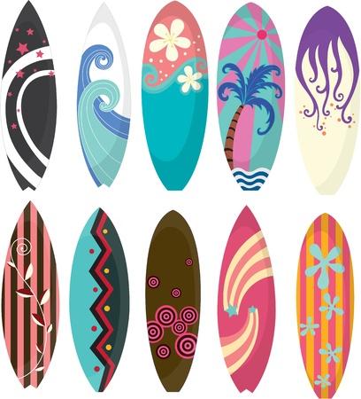 cartoon surfing: Illustration of Surfing Pads on white background Illustration