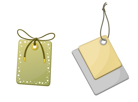 tagging: Illustration of price tags on white