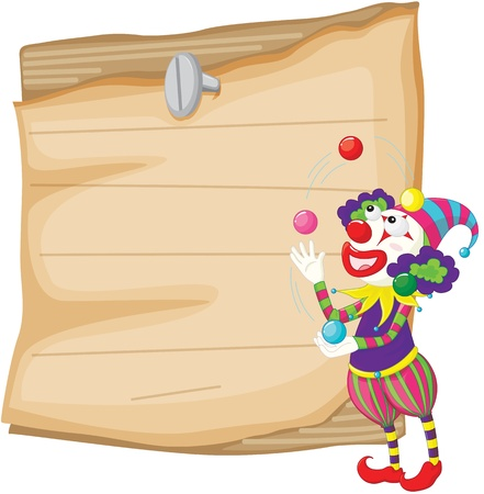 Clown illustration with note area