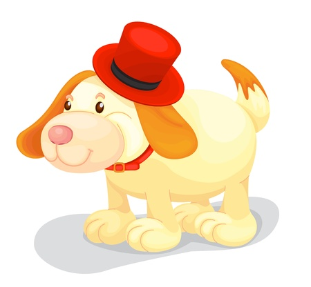 Toy dog cartoon on white Stock Vector - 13076219