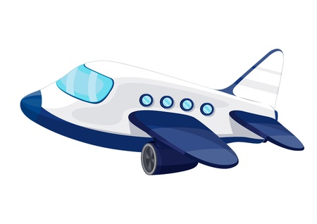 Illustration of private jet plane Vector