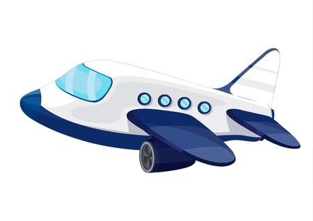 avion caricatura: Ilustraci�n del avi�n jet privado Vectores