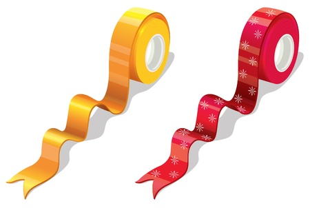 Illustration of 2 spools of wrapping tape Vector