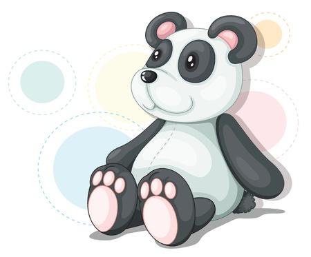 teddybear: Panda teddy illustration