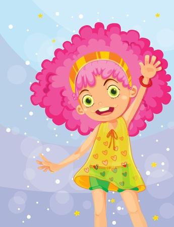 cute girl: Illustration of fashionable girl Illustration