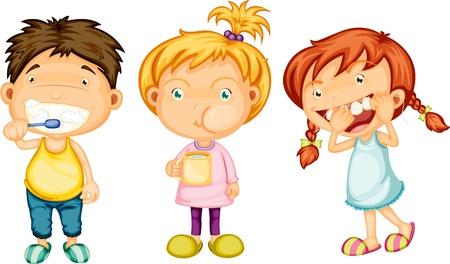 gargle: Illustration of Boy   Girls on white background