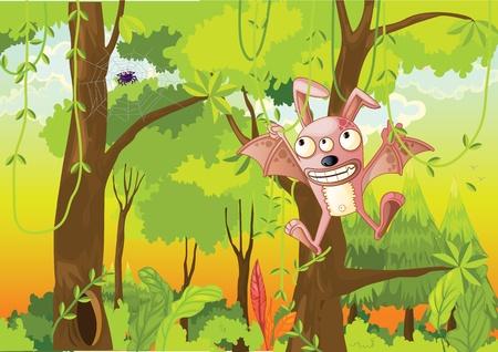 illustration of forest on white Stock Illustration - 13076341