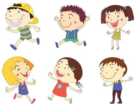 illustratie van een kids op wit Stockfoto
