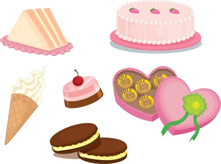 illustration of food items on a white background illustration