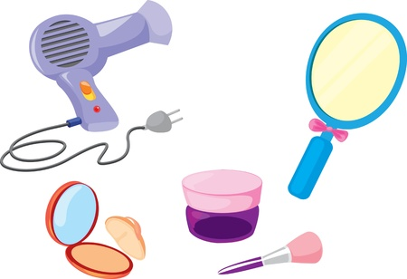 drier: illustration of various objects on white