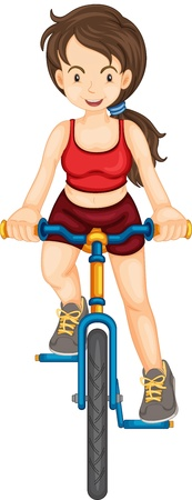 Illustration of a fit woman illustration