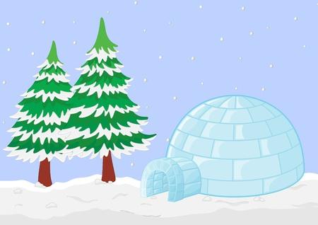 Illustration of a winter scene Stock Illustration - 13109784
