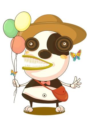 Illustration of  a cartoon character on white Stock Illustration - 13115623