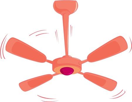 colour fan: illustration of fan on white
