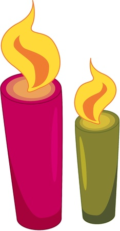 candle flame: soap and shaving equipment Illustration