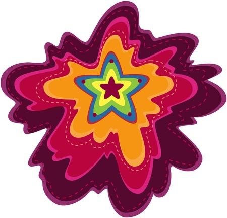 illustration of star on white Illustration