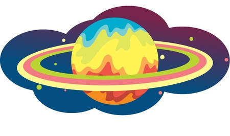 illustration of globe and ring on white Vector