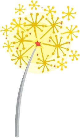 crackles: illustration of magic sticks on white