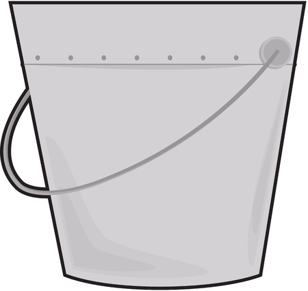 bail: illustration of a bucket on white