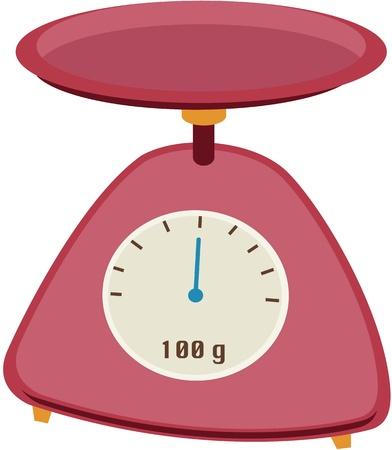 clock cartoon: illustration of clock on white Illustration