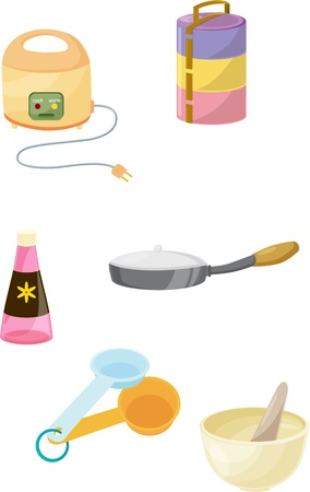 tiffin: illustration of various objects on white