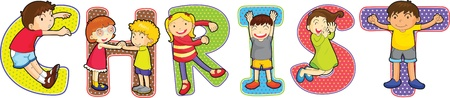 children s: illustration of a alphabets on white