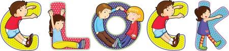 letter alphabet pictures: illustration of cartoon alphabets on white Illustration