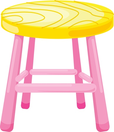 stools: illustration of stool on white Illustration