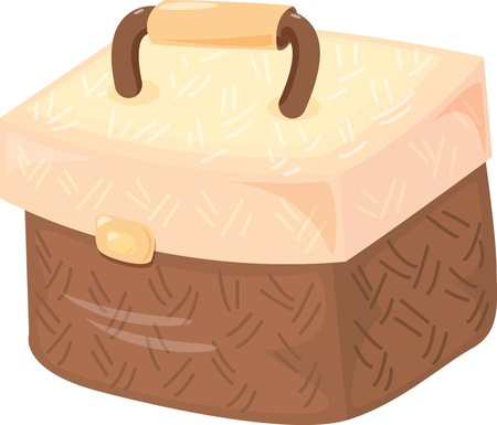 tiffin: illustration of tiffin bag on white