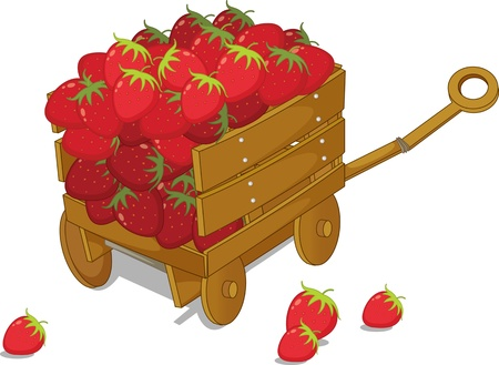 illustration of trolley on white Ilustracja