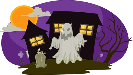 illustration of ghost on white Stock Vector - 13120339