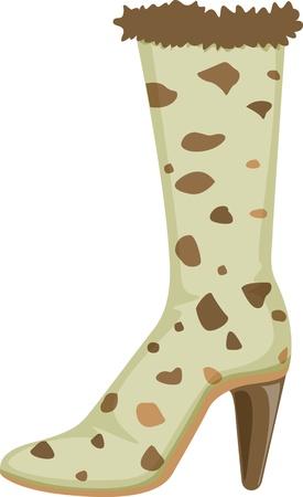 ladies shoes: illustration of shoe on white