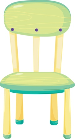 chair cartoon: illustration of chair on white