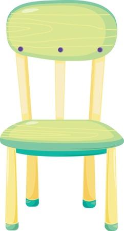 ilustración de la silla en blanco Ilustración de vector