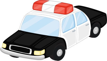 police car: Illustration of  a cartoon vehicle on white