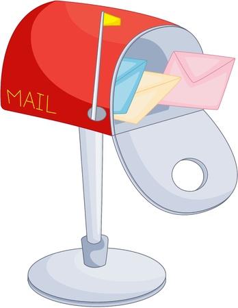 mail box: illustration of letter box on white