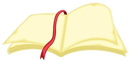 illustration of book on white illustration