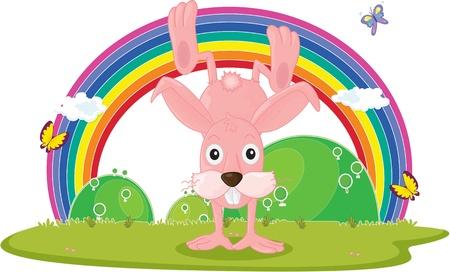 illustration of rabbit on white Stock Vector - 13121381