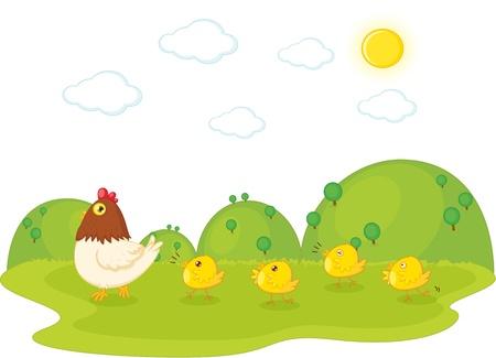 illustration of birds on white Stock Vector - 13121794