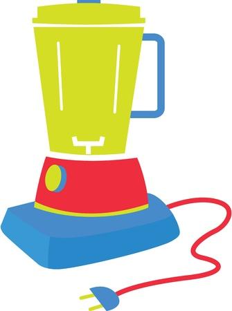 juicer: illustration of utensil on white Illustration