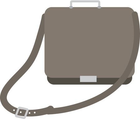 illustration of a bag on white Stock Vector - 13120734