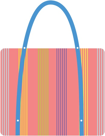 illustration of a bag on white Stock Vector - 13120736