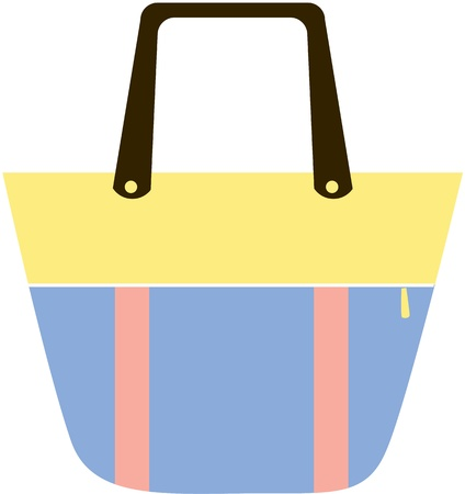 illustration of a bag on white Vector