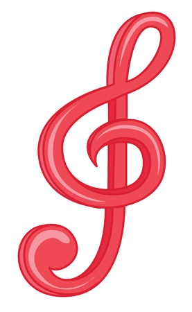 instrumental: illustration of music symbol on white