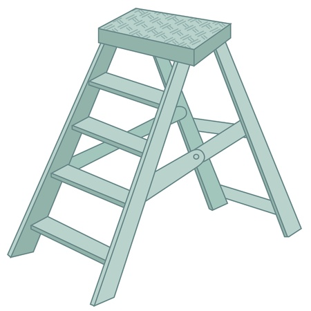 illustration of ladder on white Vector