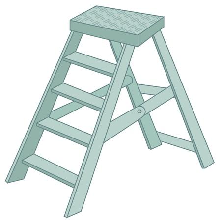 rungs: ilustraci�n de la escalera en blanco
