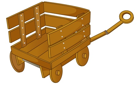 clipart style cartoon of a cart Stock Vector - 13120988
