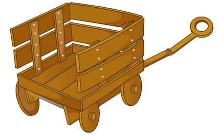 clipart style cartoon of a cart Illustration