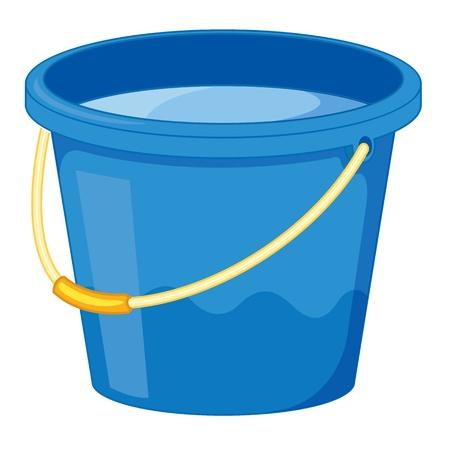 bucket water: clipart dibujos animados al estilo de un cubo