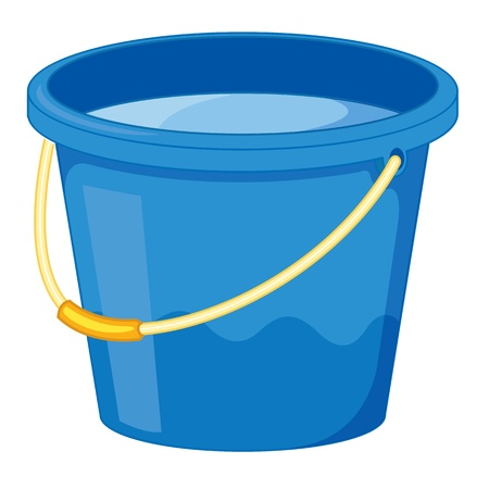 clipart style cartoon of a bucket